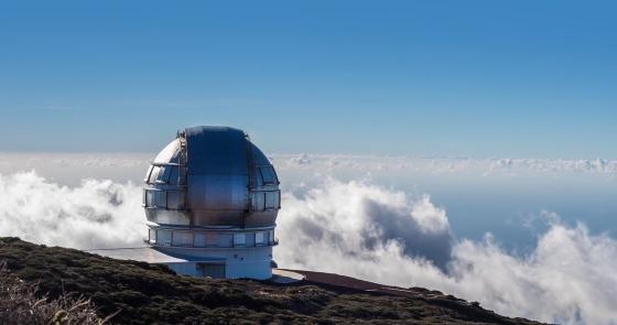 La Palma island Observatory and airport