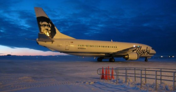 Which airport in Alaska to fly to airlines flights Fairbanks Anchorage Juneau